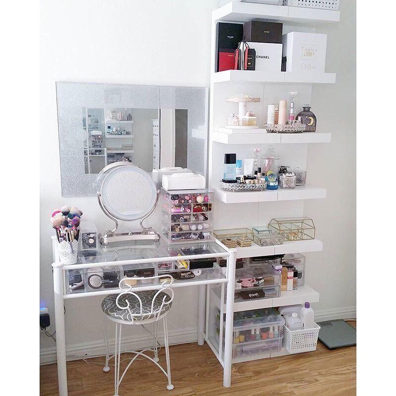 12 Ikea Makeup Storage Ideas You Ll Love Makeup Tutorials Beauty Room Vanity Room Home