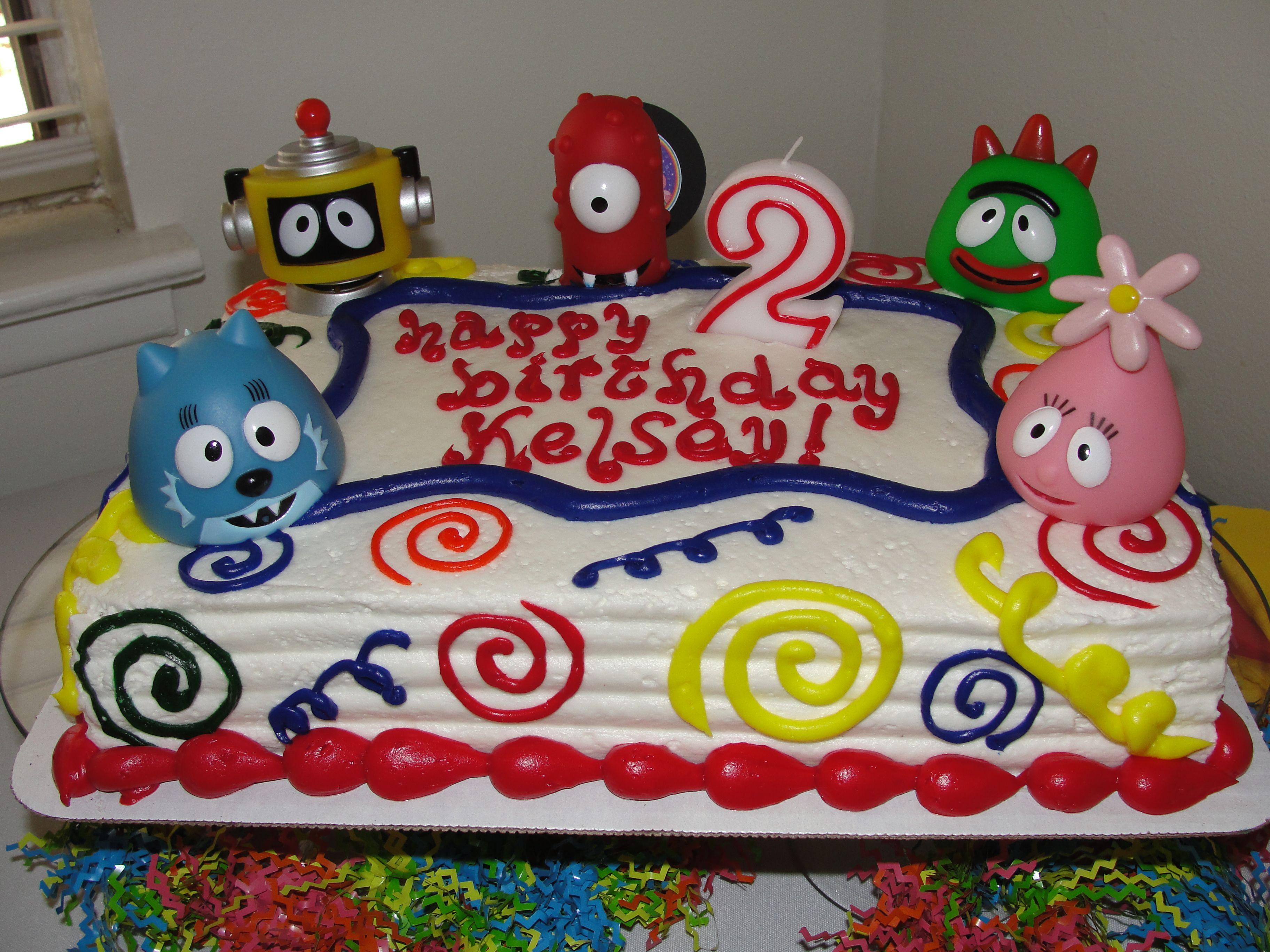 Yo Gabba Gabba Birthday Cake Easy Grocery Store Cake With Ygg