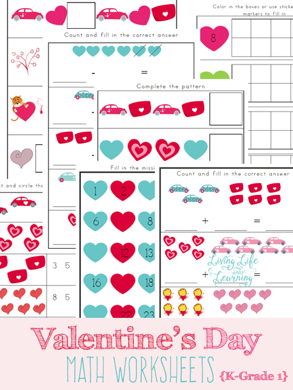 Valentines Day Math Worksheets – Grade 1 Worksheets Math