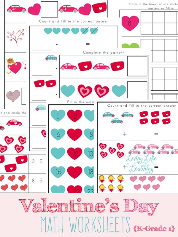 Valentine\'s Day Math Worksheets | Pinterest | Schreibschrift und Kind