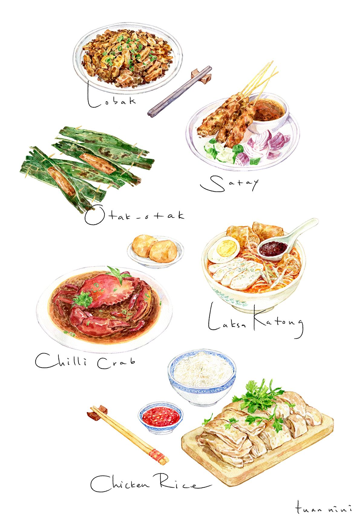 Singaporean Dishes Commission by SPH Magazines for