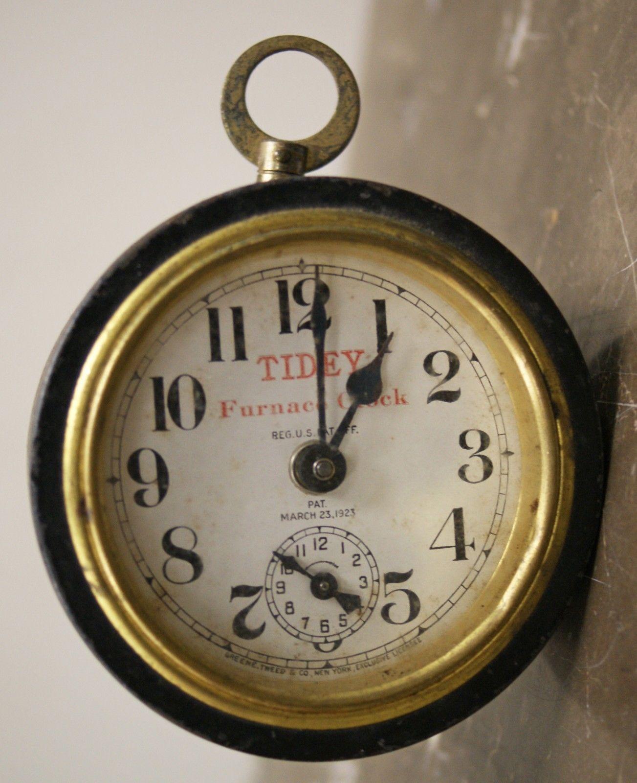 Antique Vintage 1923 Greene Tweed Co Tidey Furnace Alarm ...