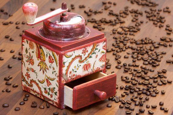 Vintage Coffee Grinder Richard Zassenhaus Decoupage Grinder upcycled coffee mill German