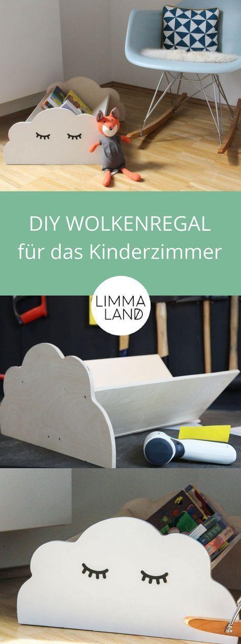 Wolkenregal Kinderzimmer - ideal für Kinderbücher!