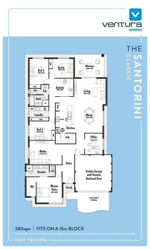 The santorini display home ventura homes 2017 house plans take a step inside the santorini a stunning single storey display home designed for modern family living on display at piara waters malvernweather Choice Image