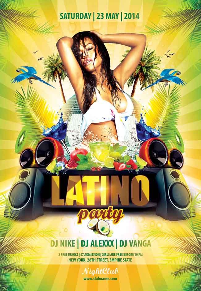 latino party flyer psd free nice ad pinterest party flyer