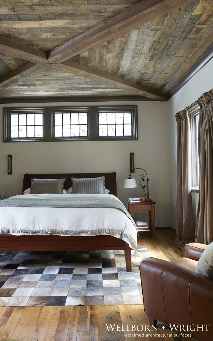 Bedroom Barn Beams Reclaimed Wood Ceiling Wellborn