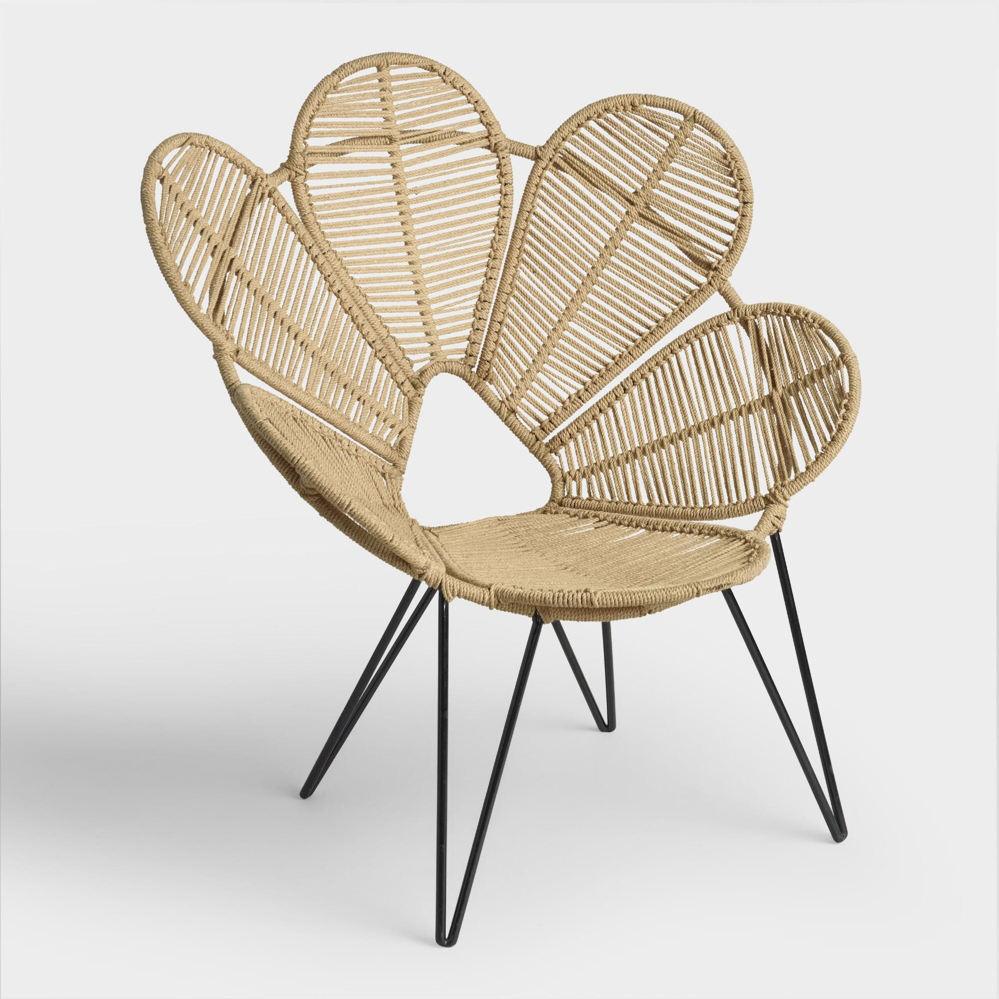Jute flower chair by world market