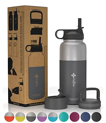 The Flow Stainless Steel Water Bottle Double Walled Vacuum Insulated Best Offer Ineedthebestoffer Com Water Bottle Water Bottle Free Hydro Flask Bottle