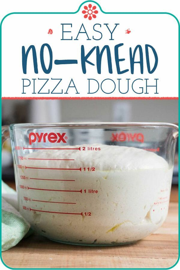 Receta fácil de masa para pizza sin amasar | SimplyRecipes.com
