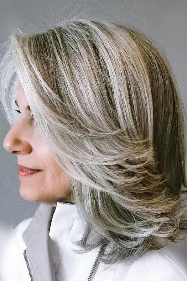40 Best Hairstyles For Older Women Over 60 Blending Gray Hair Long Gray Hair Low Maintenance Hair