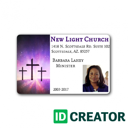 We Supply Badges That Can Be Used In Your Place Of Worship Here At Idcreator These Badges Are Great For Church Church Logo Id Card Template Church Volunteers
