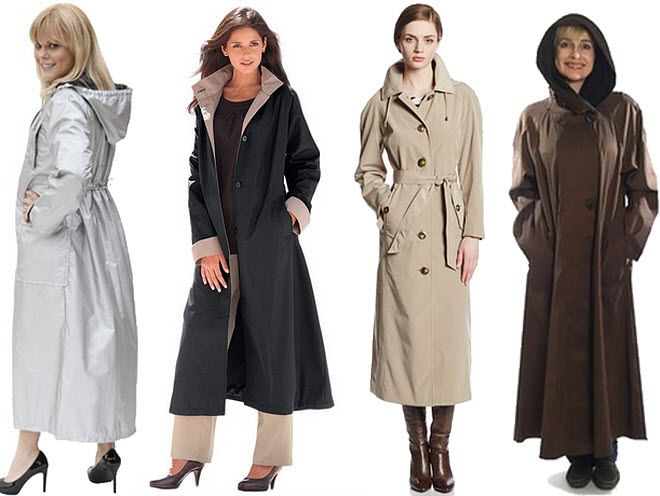 Womens long raincoats | ChoozOne | Coats, Jackets and Gloves ...