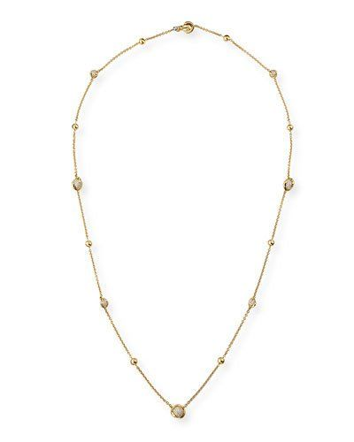 Marina B Cardan Agate & Spinel Station Necklace in 18K Gold, 36