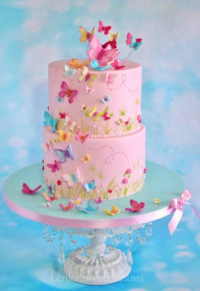 Awe Inspiring 27 Exclusive Photo Of Butterfly Birthday Cake Butterfly Funny Birthday Cards Online Overcheapnameinfo