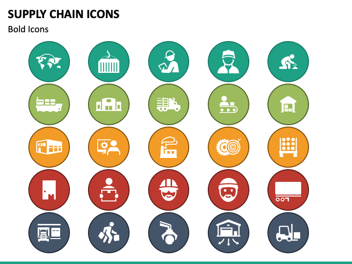 Supply Chain Icons Powerpoint Icon Icon Supply Chain