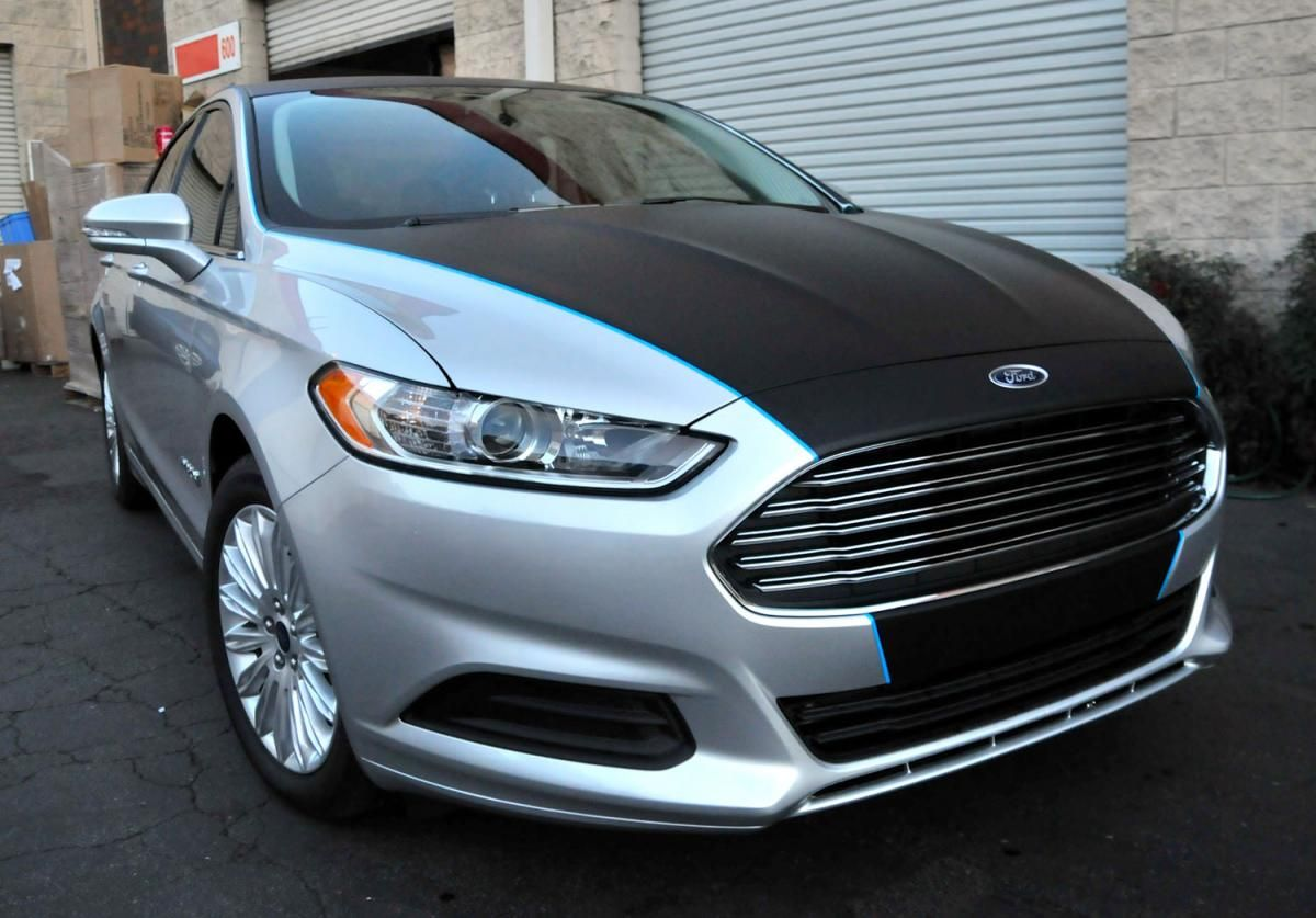 Partially vinyl wrapped 2014 Fusion Glass, Headlights