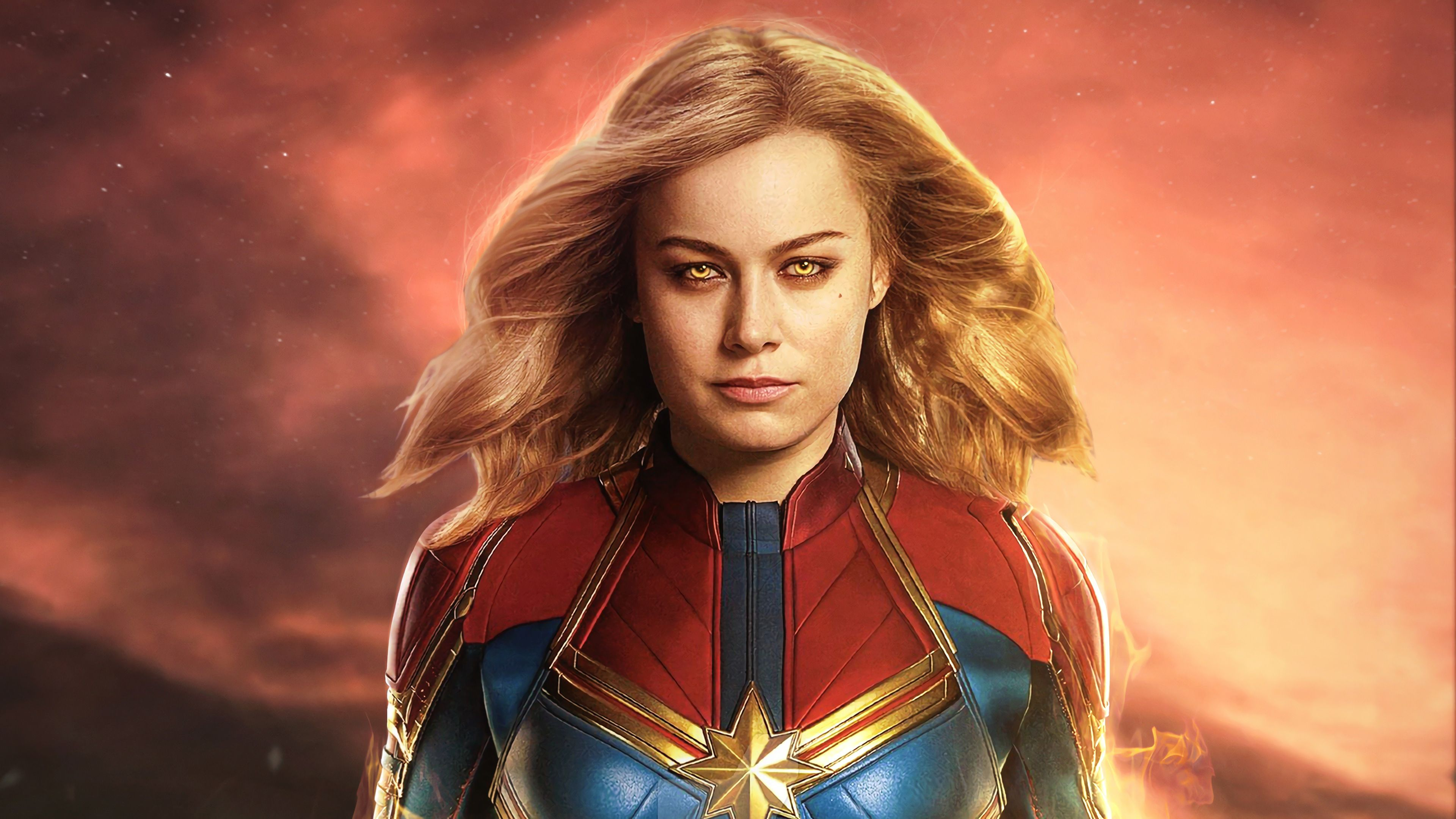 Captain Marvel Movie 2019 Brie Larson As Carol Danvers 4k Wallpaper Captain Marvel Movie 2019 Captain Marvel Captain Marvel Marvel Heroines Superhero Film