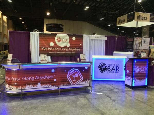 The Portable Bar Company Trade Show Booth