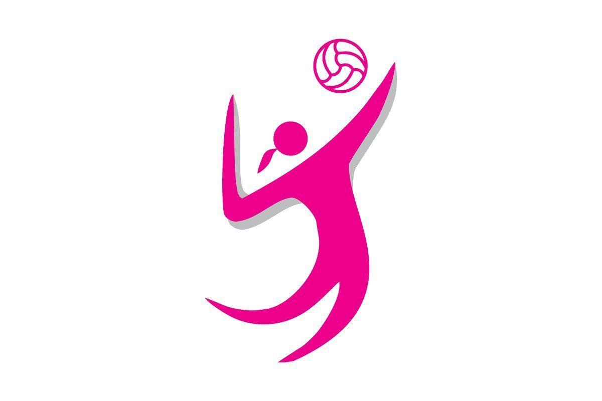 Volley Woman Logo In 2020 Logo Design Template Beautiful Logos Graphic Design Logo