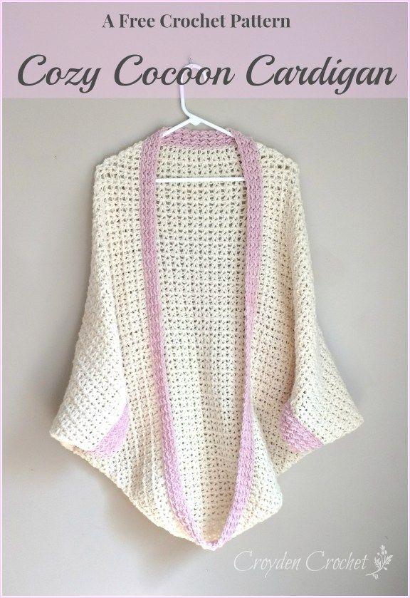 Crochet Cozy Cocoon Cardigan | gehäkelte Oberteile, Diy häkeln und ...