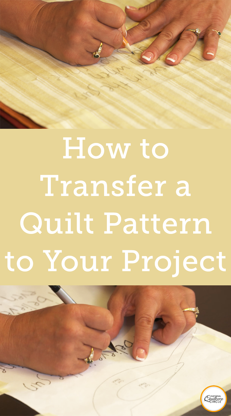 How to Transfer a Quilt Pattern to Your Project  #fabrictape