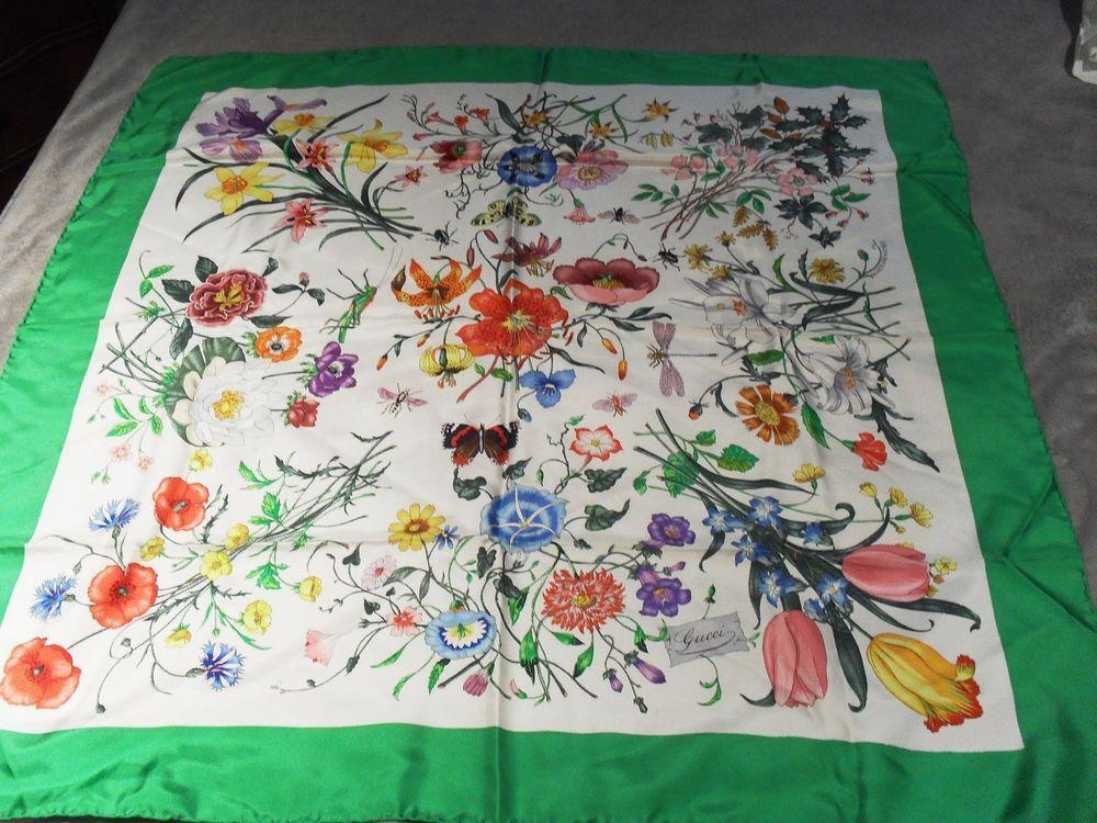 Accornero Mobili ~ Vintage gucci scarf flora by v accornero with cyan blue border