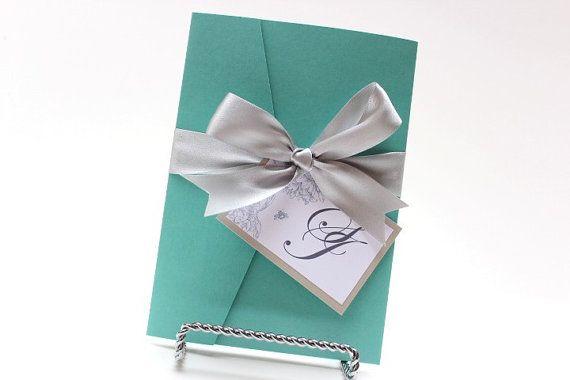 Wedding Invitations Tiffany Blue White And Silver