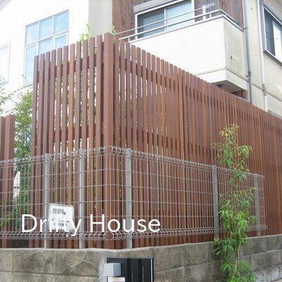 神奈川県藤沢市a様邸お庭 リガーデン の施工例 木製縦格子フェンス