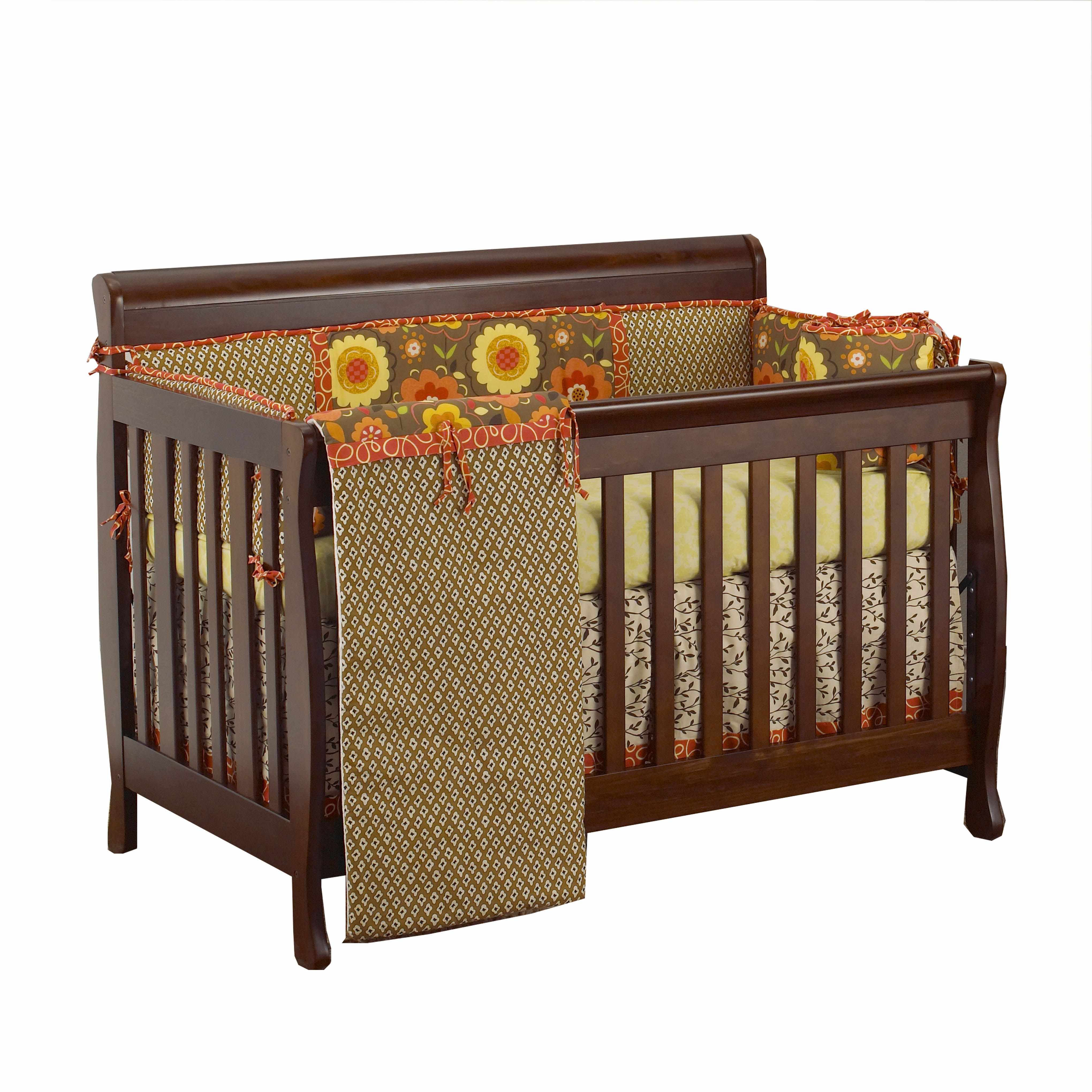 FREE SHIPPING! Convertible Crib and Baby Bedding together