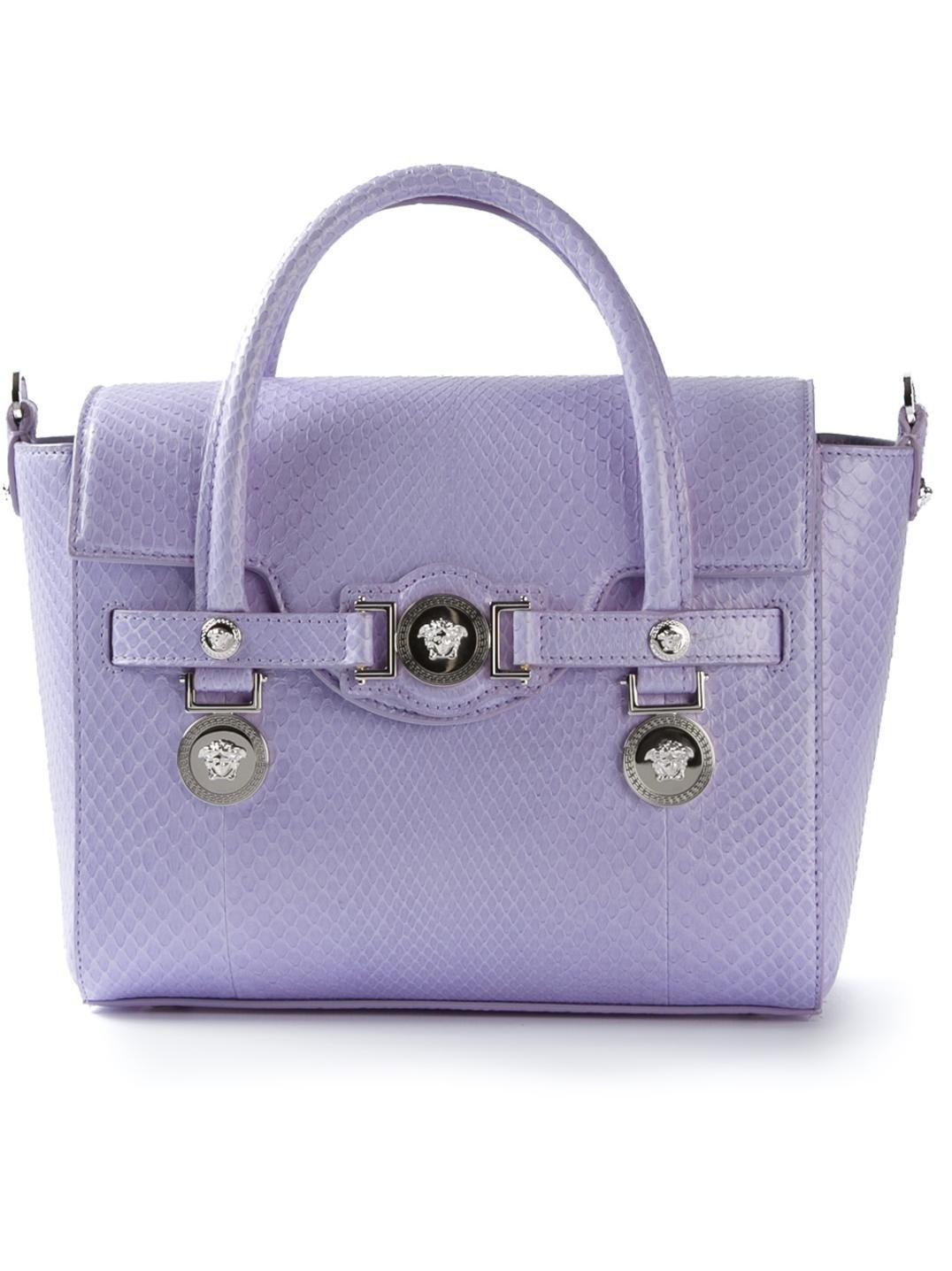 e17e57c87d39 Versace small signature top handle..  versace  lavender  tote  fashion   adore  highfashion  purple  chic