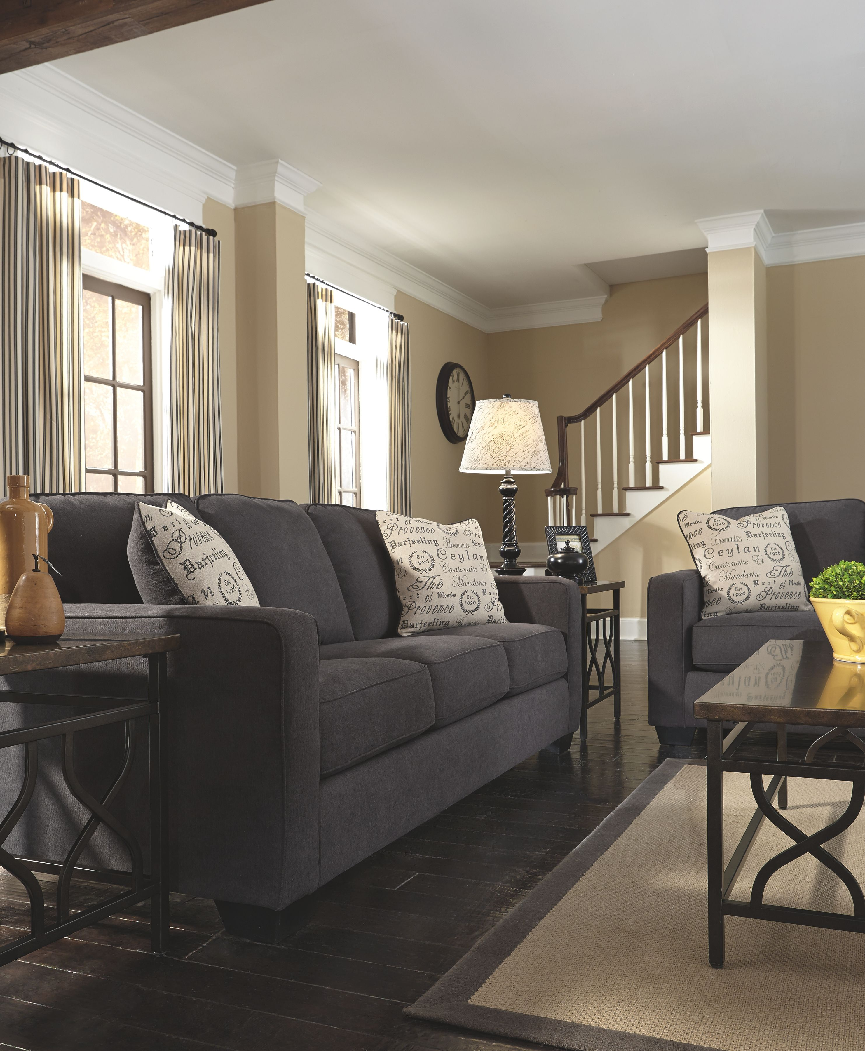 Alenya Queen Sofa Sleeper Charcoal In 2020 Living Room Color