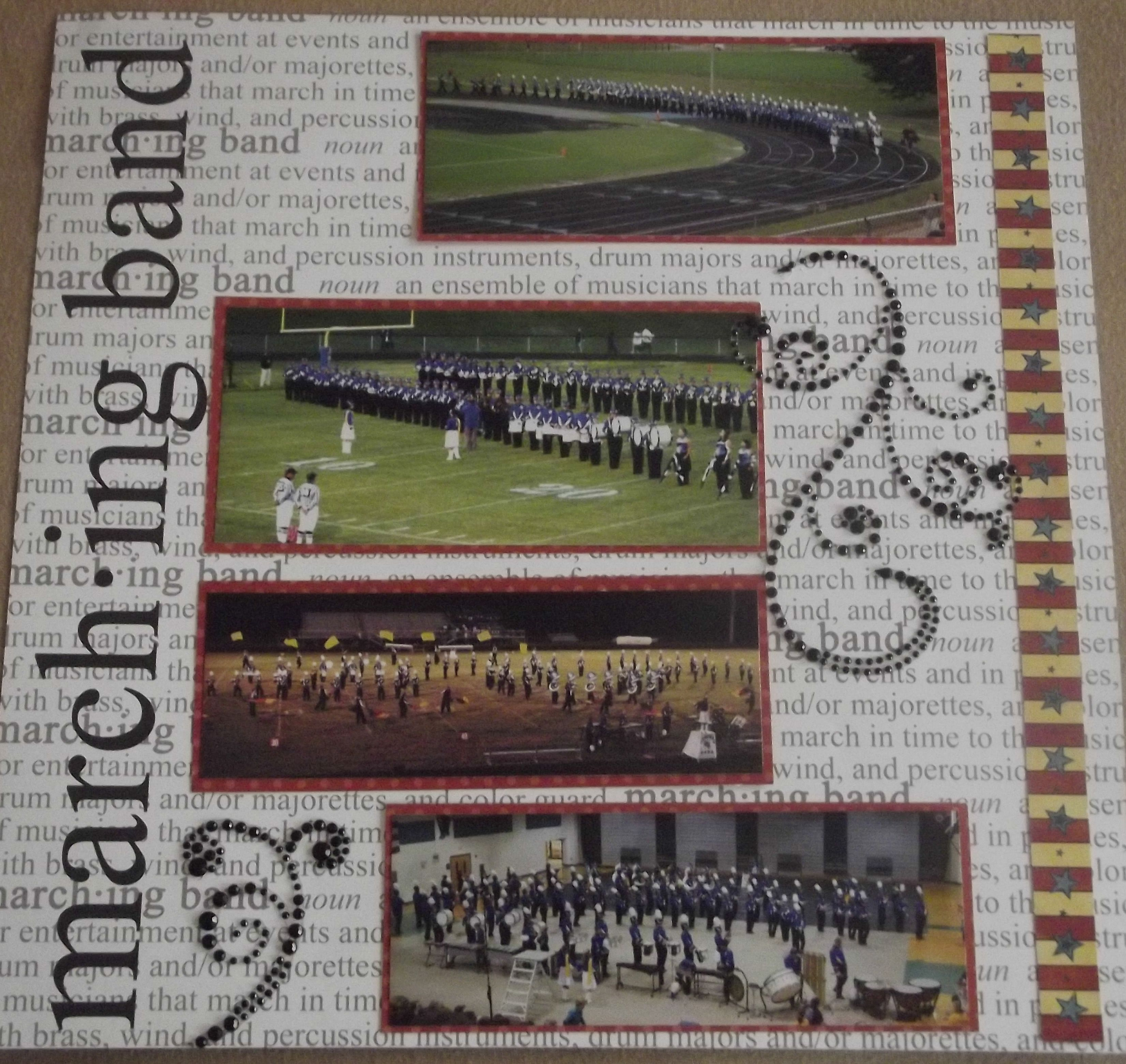 Scrapbook ideas school - High School Marching Band Layout Page 6 Scrapbook Com