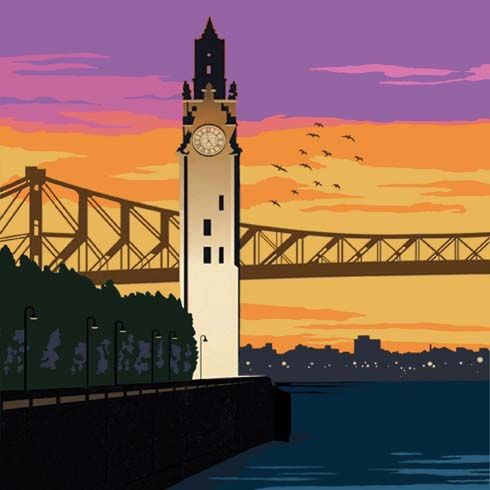 Montreal Clock Tower - Sally Corey Designs for The Art Needlepoint Company http://www.artneedlepoint.com/artists/Corey-Sally