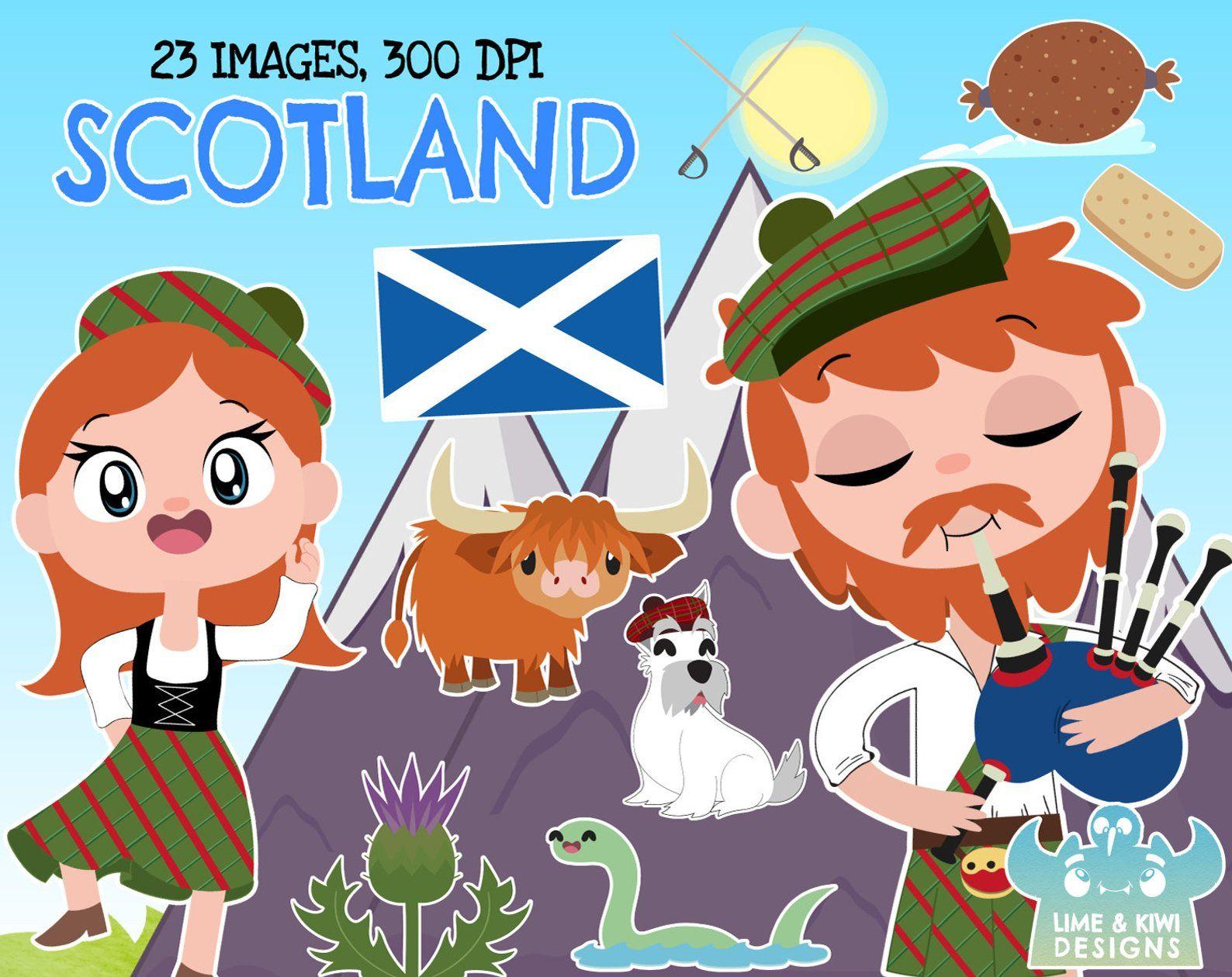 Scotland Clipart, Instant Download Vector Art, Commercial