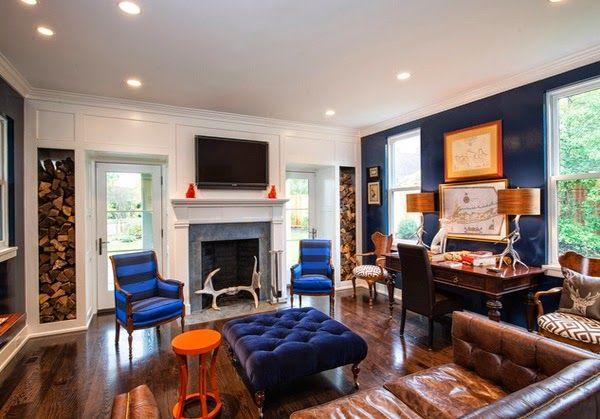 Decoration Salon Bleu Et Orange
