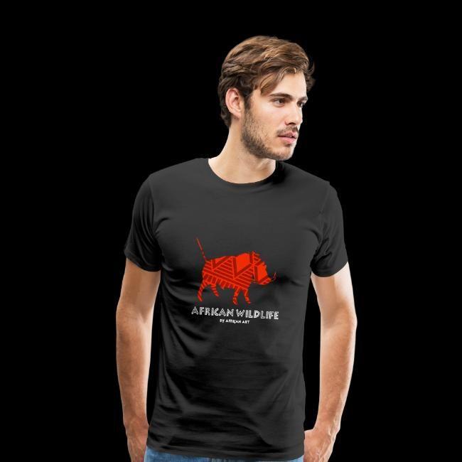african wildlife  warzenschwein  männer premium tshirt