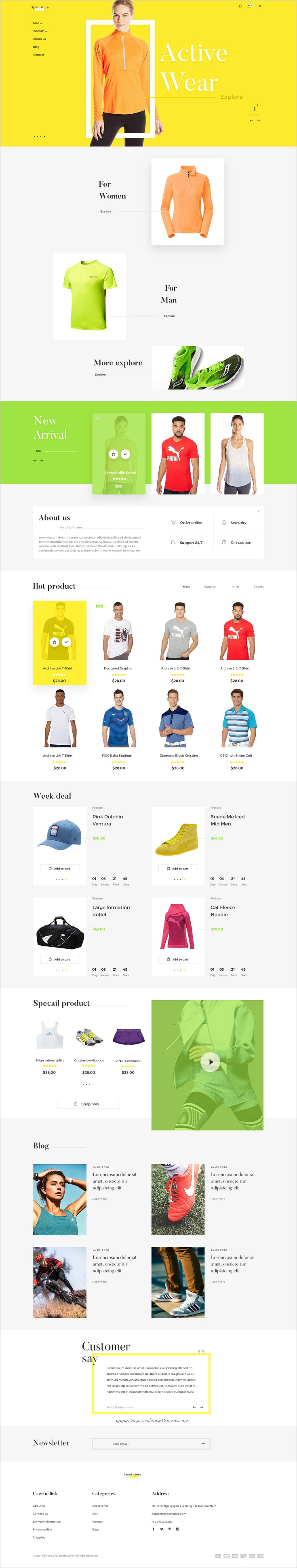 Sportstore is a clean and modern design premium #Photoshop template for stunning #sports #shop eCommerce websites download now➩ https://themeforest.net/item/sport-store-premium-ecommcerce-psd-templates/18945924?ref=Datasata