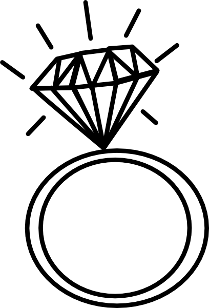 Wedding Ring Drawings ClipArt Best ClipArt Best Crafty things