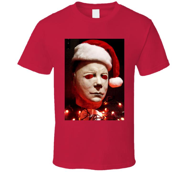Michael Myers Christmas Holiday Halloween Movie T Shirt