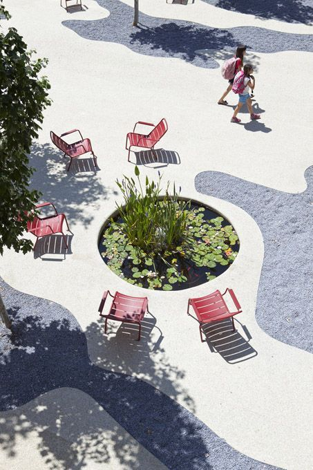 Puntos de reunión, texturas con formas de sombra.