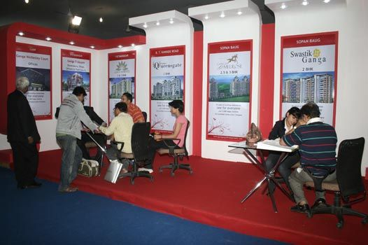 Exhibition Stall In Pune : Goel ganga developments stall at 10th official mega property