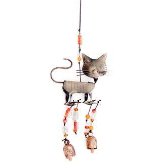 Handmade A Cat's Walk 3-D Wind Chime (India) by Maharani Imports