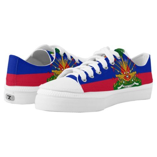 Haiti Flag Low-Top Sneakers | Zazzle.com