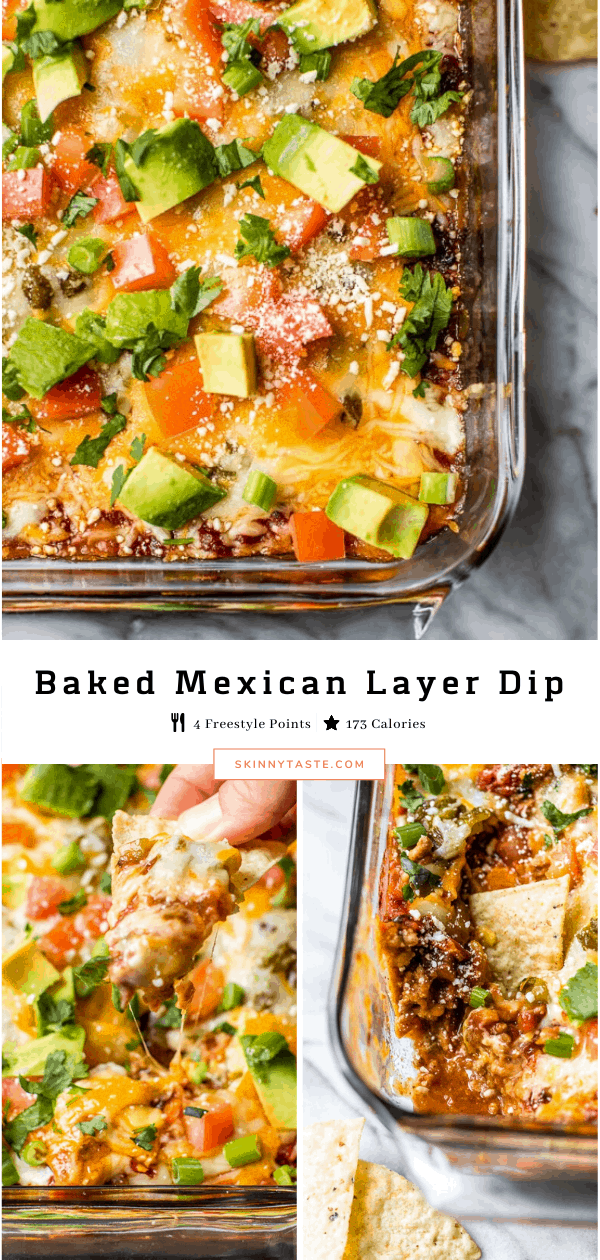 This Baked Mexican Layer Dip Is Filled With Meat, Cheese and Tons Of Taco Flavor
