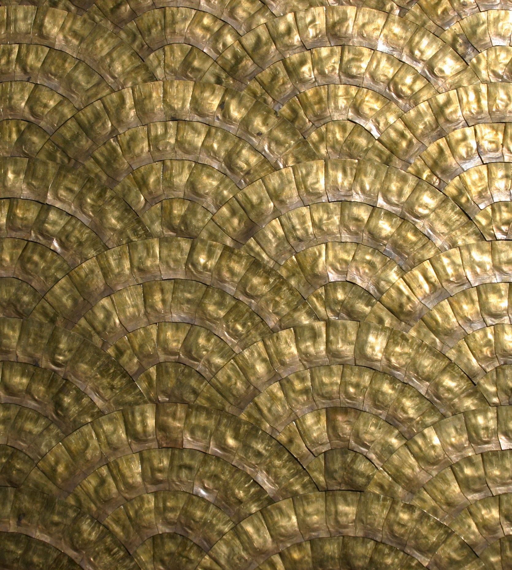 Recycled Brass Bullet Casings In Cobblestone Pattern In