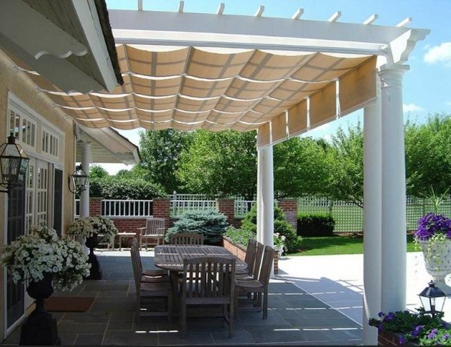 Beautiful Awnings Patio Pergola Covers: The People Can Sit There And Enjoy  Their Free Time Sitting Under It.