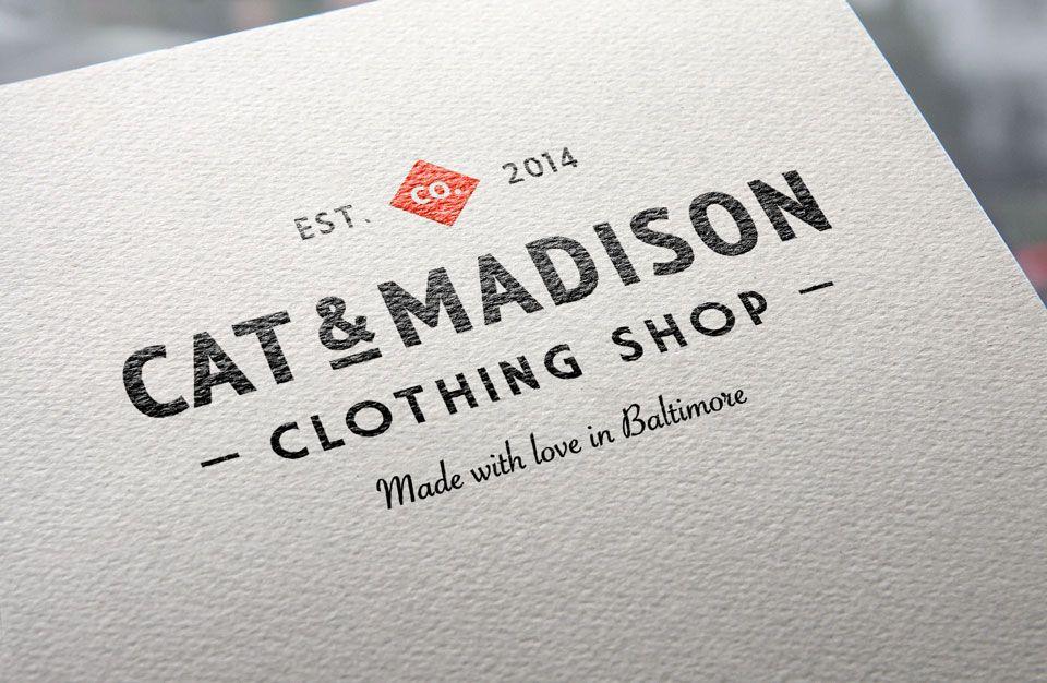 Mockup de logo sobre papel texturado