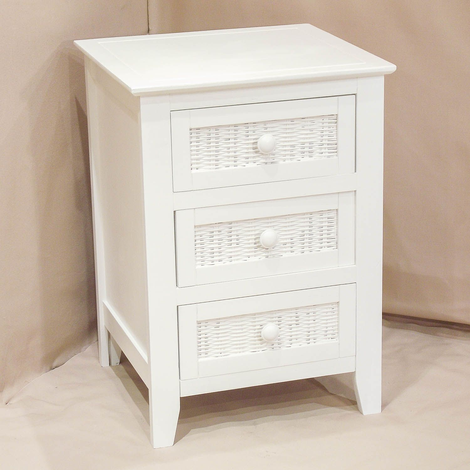 White side tables with drawers - Furniture Bedroom Vintage White Wooden Night Table With Decorative Woven Drawer Night Tables For Bedroom Laltraguida