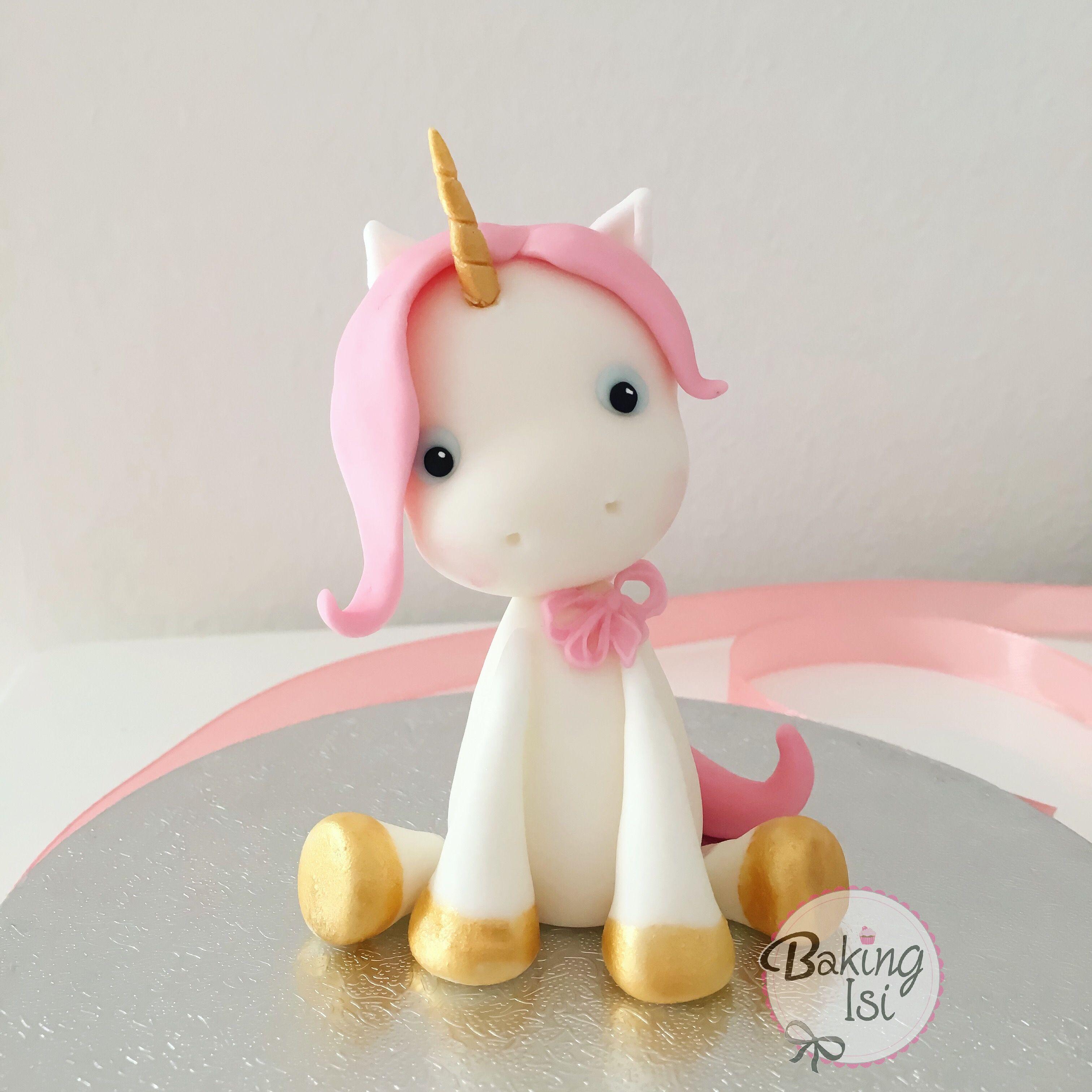 unicorn einhorn pink fondant caketopper unicorn. Black Bedroom Furniture Sets. Home Design Ideas